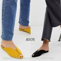 ASOS Open Toe Casual Style Suede Plain Peep Toe Pumps & Mules