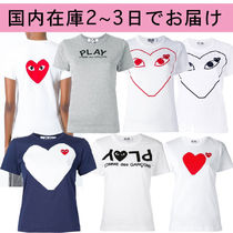 PLAY COMME des GARCONS Cotton Short Sleeves Tops