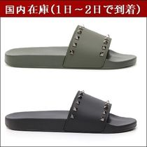VALENTINO Studded Street Style Leather Shower Shoes Shower Sandals