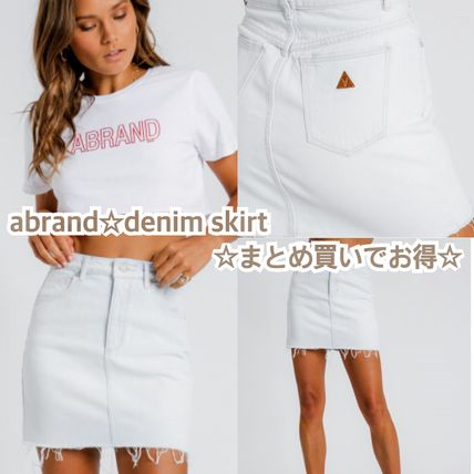 Denim Plain Skirts