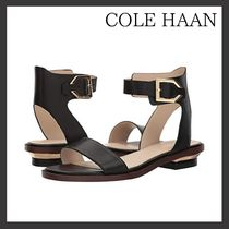 Cole Haan Open Toe Plain Leather Office Style Sandals