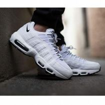 Nike AIR MAX 95 Unisex Street Style Plain Leather PVC Clothing Sneakers