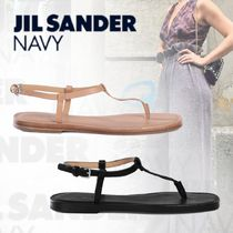 JIL SANDER NAVY Casual Style Street Style Plain Leather Sandals