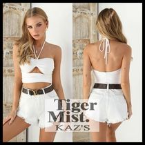 Tiger Mist Short Casual Style Plain Cropped
