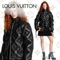 Louis Vuitton MONOGRAM Monogram Leather Elegant Style Jackets
