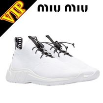 MiuMiu Casual Style Unisex Street Style Plain Low-Top Sneakers
