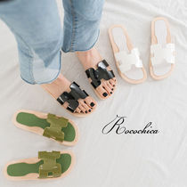 Open Toe Casual Style PVC Clothing Slippers Sandals