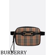 Burberry Other Check Patterns Calfskin Chain Elegant Style Bags
