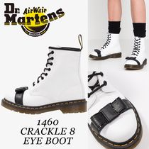 Dr Martens 1460 Round Toe Casual Style Blended Fabrics Street Style Bi-color