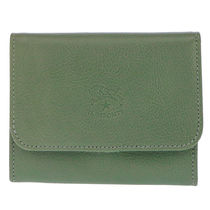 IL BISONTE Unisex Plain Leather Folding Wallets