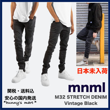 MNML More Jeans Tapered Pants Denim Street Style Jeans