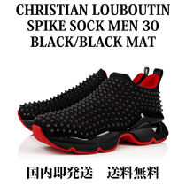 Christian Louboutin Spike Sock Blended Fabrics Studded Street Style Sneakers