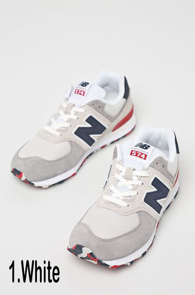 New Balance 574 Blended Fabrics Street Style Kids Girl Sneakers