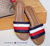 Tommy Hilfiger Stripes Casual Style Low-Top Sneakers