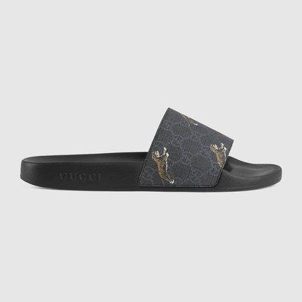 GUCCI GG Supreme Shower Shoes Logo Sports Sandals