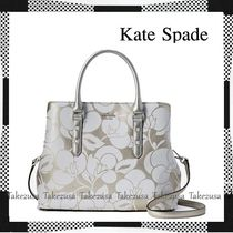 kate spade new york Flower Patterns 2WAY Leather Elegant Style Shoulder Bags
