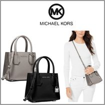 Michael Kors MERCER Leather Shoulder Bags