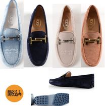 TOD'S Casual Style Leather Loafer Pumps & Mules