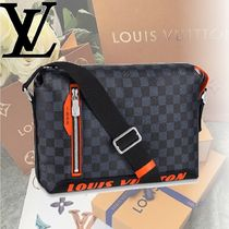 Louis Vuitton DAMIER COBALT Leather Messenger & Shoulder Bags