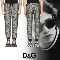 Dolce & Gabbana Flower Patterns Street Style Joggers & Sweatpants