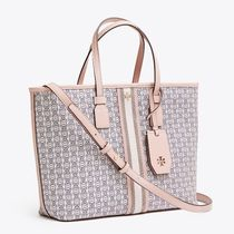 Tory Burch GEMINI LINK Casual Style 3WAY PVC Clothing Totes