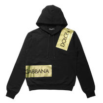 Dolce & Gabbana Pullovers Long Sleeves Cotton Hoodies