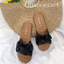 Open Toe Casual Style Plain Slippers Shoes