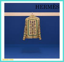 HERMES Silk Long Sleeves Shirts & Blouses