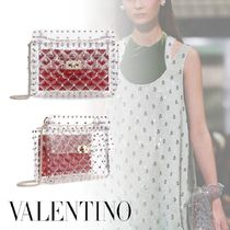 VALENTINO Studded 3WAY Party Style Crossbody Logo Shoulder Bags