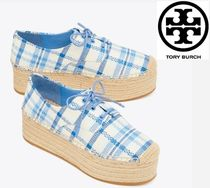 Tory Burch Other Check Patterns Platform Shoes