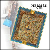 HERMES 2019-20AW LES JARDINS D'ARMENIE ASHTRAY blue gold trays