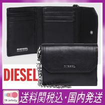 DIESEL Chain Leather Card Holders