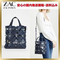 ZAC ZAC POSEN Flower Patterns 2WAY Plain Leather Elegant Style