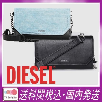 Chain Leather Long Wallets