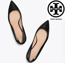 Tory Burch Plain Kitten Heel Pumps & Mules