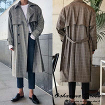 Glen Patterns Street Style Trench Coats