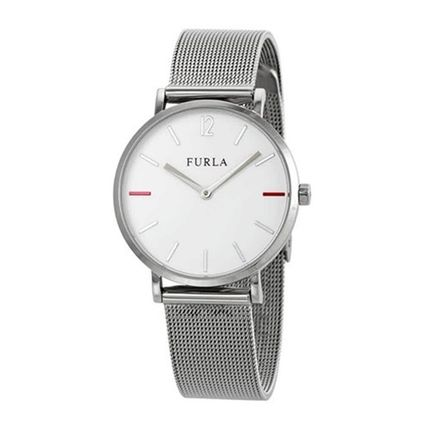 FURLA Round Bridal Casual Style Quartz Watches Stainless
