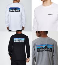 Patagonia Crew Neck Long Sleeves Cotton Long Sleeve T-Shirts