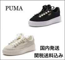 PUMA SUEDE Casual Style Plain Low-Top Sneakers