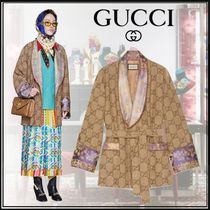 GUCCI Flower Patterns Monogram Medium Elegant Style Jackets