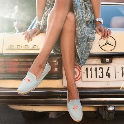 Tropical Patterns Platform Round Toe Casual Style
