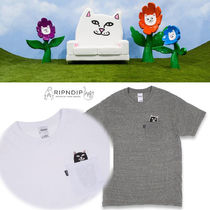 RIPNDIP Unisex Street Style Short Sleeves Long Sleeve T-Shirts