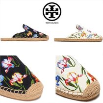 Tory Burch Flower Patterns Round Toe Casual Style Slippers Sandals
