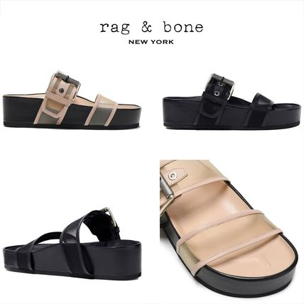 Open Toe Rubber Sole Casual Style Plain Slippers Sandals