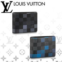 Louis Vuitton Other Check Patterns Leather Folding Wallets