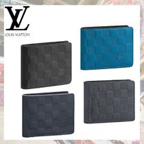 Louis Vuitton DAMIER INFINI Other Check Patterns Leather Folding Wallets