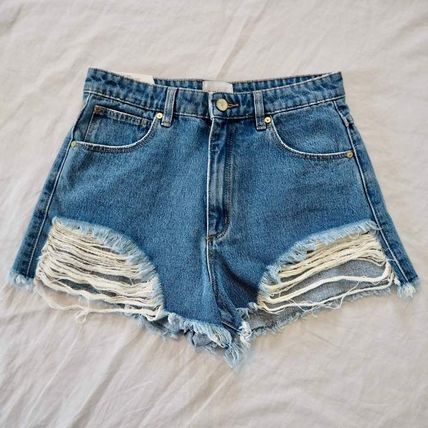 Casual Style Plain Medium Shorts