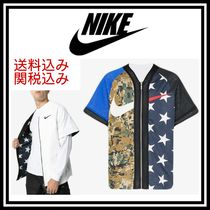 Nike Star Camouflage Street Style Short Sleeves Tops