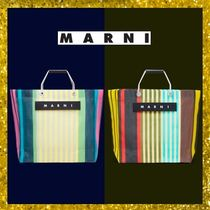 MARNI MARNI MARKET Other Check Patterns Casual Style Street Style A4 Handmade
