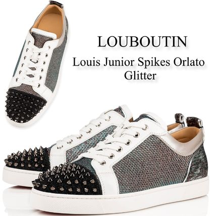 info for e327e bbfb7 Christian Louboutin 2019 SS Sneakers (Louis Junior Spikes Orlato Glitter,  3190770CMA3)